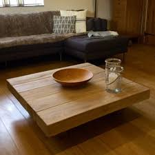 attractive large square oak coffee table 19 floating sleeper home design