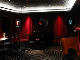Black Ceiling Red Walls Home Theater Ceilings And Room With Decorations