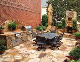 Outdoor Kitchen Fireplace Outdoor Kitchen With Fireplace In Summer Outdoor Furniture Style