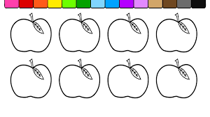 Apple Tree Pictures To Color Coloring Home Page Of An Style Pages