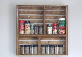 Kitchen Spice Storage Simple Trick To Get Ideal Wall Mounted Spice Rack Home Wall Ideas