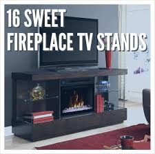 fireplace tv stand 16 sweet entertainment fireplaces goedeker s home life