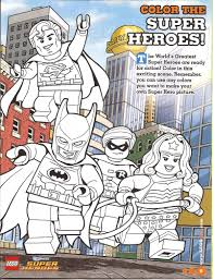 Lego Super Heros Coloring Page Free