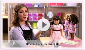 american doll makeup craft for best styling results lightly mist your doll 39 s hair with water as needed before