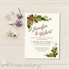 winter wedding invitations cheap invites at invitesweddings com Wedding Invitations Christmas classic mistletoe christmas holiday wedding invites iwi341 wedding invitations christian