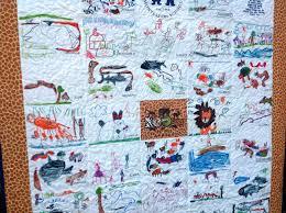 Handmade Custom Children's Art Quilt - Artwork School Kindergarten ... & Custom Made Custom Children's Art Quilt - Artwork School Kindergarten Class  Kid's Drawing Quilt Adamdwight.com