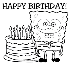 Small Picture Spongebob squarepants coloring pages birthday ColoringStar