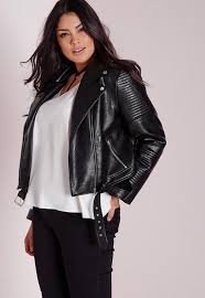 plus size faux leather blazer