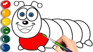 Small Picture Caterpillar Coloring Pages Learn Colors for Children YouTube
