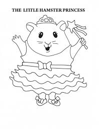 Free printable hamster coloring pages for kids. The Little Hamster Princess In Guinea Pig Coloring Page Color Luna Coloring Home