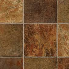 tarkett lifetime 12 ft w x cut to length dark rust tile low gloss finish sheet vinyl