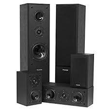 speakers in amazon. fluance avhtb surround sound home theater 5.0 channel speaker system including three-way floorstanding towers speakers in amazon