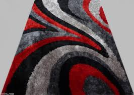 gy modern black red grey 5x8 area rug actual size red and grey area
