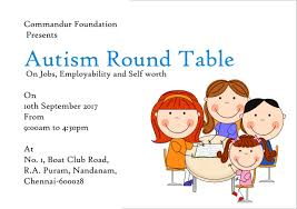 register for event autism round table on jobs employability and self worth