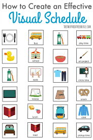Make A Time Schedule How To Make A Visual Schedule The Inspired Treehouse