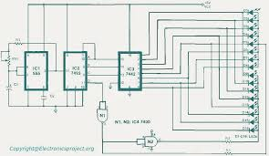 led running lights electronics project circuit diagram