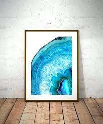 tempered glass wall art agate blue geode printable print crystal rock gem mineral photography uk on rock wall art uk with tempered glass wall art agate blue geode printable print crystal