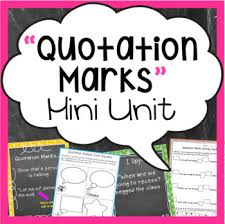 Quotation Marks Anchor Chart Quotation Marks Mini Unit Activities Anchor Charts More