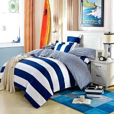 modern simple design navy blue stripe bedding set queen king quilt and white striped cover red navy stripe