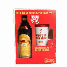 kahlua with mug gift set 750ml
