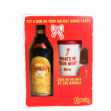 kahlua with mug gift set 750ml
