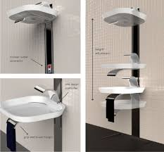 Conceptualized by Polish designer Marta Szymkowiak, the LIFT is a height  adjustable sink and shower combo for our bathrooms.