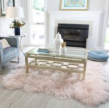 tibetan blush pink mongolian sheepskin fur floor rug to size by eluxury home 170x170cm