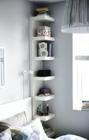 narrow corner shelf wall tall mounted shelving units