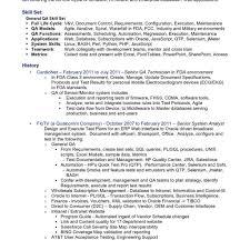 qa manual tester sample resume fred resumes