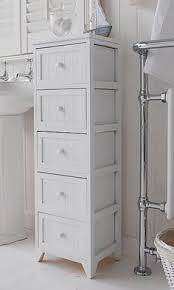 white wooden bathroom furniture. Slim Bathroom Storage Cabinet A Crisp White Freestanding Cottage  Furniture. Narrow Wooden Furniture U