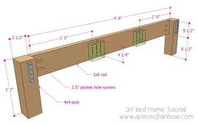 how to build a beautiful diy bed frame wood headboard easily free diy bed