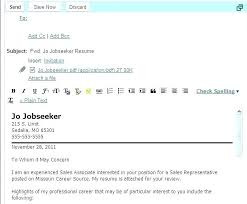 Cover Letter By Email Format Resume Thekindlecrew Com