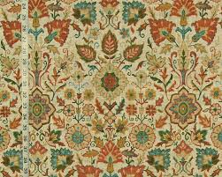 orange blue craftsman rug fabric