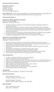 Pharmacist Resume Examples Freshers Pharmacy Resume Format Freshers