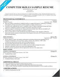 Sample Skills Resume Resume Skills Example Resume Samples Skills Technician Technician