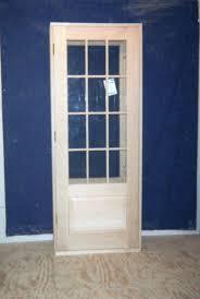 custom wood exterior door unit