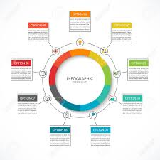 Info Graphic Cycle Diagram Process Chart With 9 Options Vector