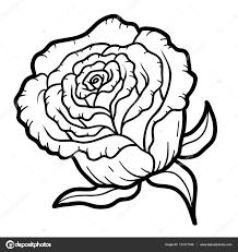 coloring book for children flower rose vector by ksenya savva