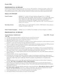 Cover Letter Oracle Dba Sample Resume Oracle Dba Resume Sample