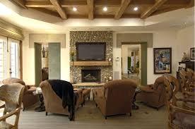 false ceiling rustic living room