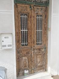 dilunett a solvent free paint remover has a gel like consistency so it will not run making it perfect for vertical surfaces like this front door