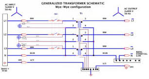 three phase transformers gamatronic 1 Line Single Phase Transformer Wiring Diagram figure 5 generalized transformer schematic phase 6 Single Phase Transformer Connections