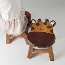 kids wooden stool chair giraffe
