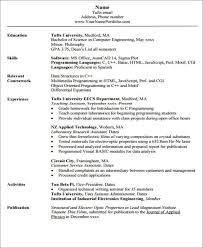 Engineering Resume Interesting 60 Engineering Resume Templates In PDF Free Premium Templates