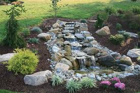 i small pond with waterfall