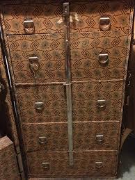 multnomah wardrobe steamer trunk bageman proof 1920s vulcanized fiber travel owned by m barnes