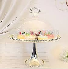 Party Food Display Stands Magnificent 32 Tier Silvery Metal Wedding Cupcake Stand With Acrylic Cover Cake