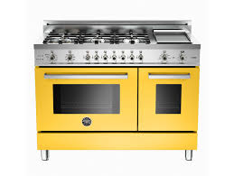 O Luxury Kitchen Ranges Ovens And Cooktops Bertazzoni Professional Series  In Italian Yellow  Revuu