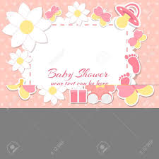 bébé fille carte d invitation placez pour le texte cartes de