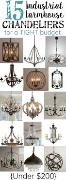 industrial farmhouse lighting. 15 industrial farmhouse chandeliers for a tight budget lighting r